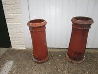 original 1930's pair chimmney pots.