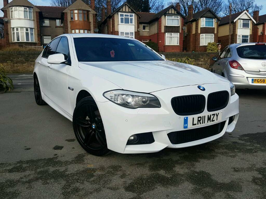 2011 bmw f10 5 series 520d m sport auto white 4 door pro sat nav leathers top spec in dewsbury. Black Bedroom Furniture Sets. Home Design Ideas