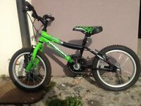 """Kids' 16"""" bike in excellent condition. Comes with stabilizers."""