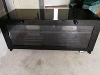 High gloss black tv stand