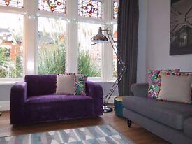 Purple NEXT Chenille 2 Seater Sofa