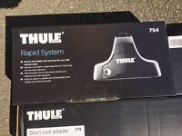 **THULE ROOF BARS FOR SALE** - USED ONCE - FORD FIESTA MK7