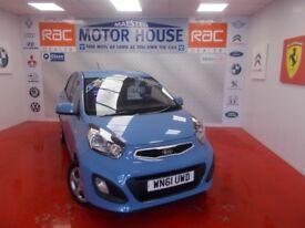 Kia Picanto 1 AIR(£0.00 ROAD TAX)FREE MOT'S AS LONG AS YOU OWN THE CAR!! (blue) 2011
