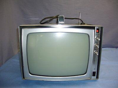 altes mobiles SABA TV Gerät Fernsehgerät Reisefernseher Fernseher