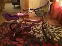Girls princess bike like new