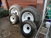 TURF TYRES AND WHEELS TO FIT JINMA 254 / SIROMER TRACTOR