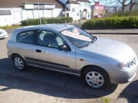 Nissan ALMERA S,1493 cc 3 door hatchback,2 previous owners,2 keys,very nice clean tidy car,only 60k