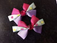 Hand made hair bows with clips