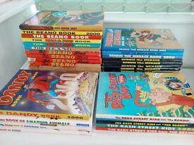 Vintage Comic Book Annuals – Beano, Dennis the Menace, Bash Street Kids, Dandy – 31 Books