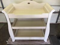 Boori Sleigh Changer White - baby changing table