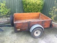 Factory Built Ireland trailer + spare wheel