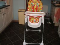 Mothercare Folding Highchair (converts to low chair)