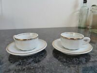 Apilco bistro-ware cups and saucers