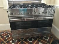 Britannia Range Cooker 100cm 6 burner dual fuel with double oven and spit roast, very good condition
