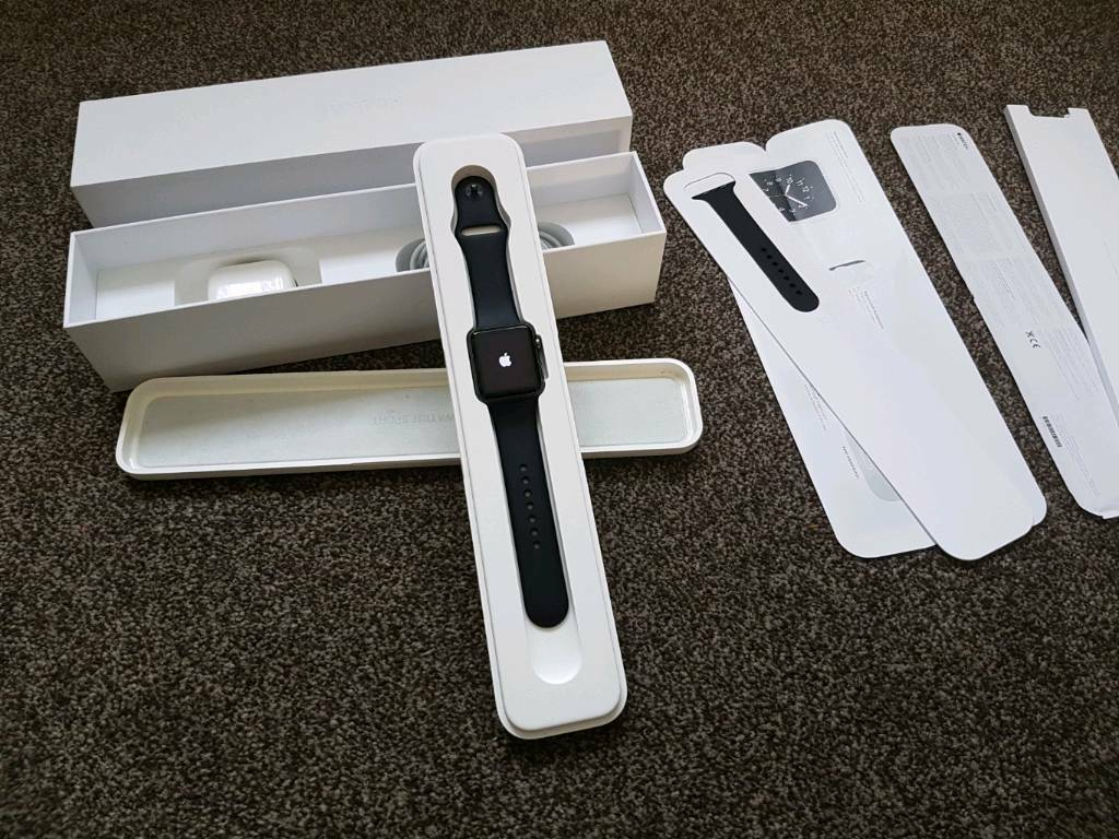 Apple Watch 42mm Sport AluminiumExcellent Conditionin Huddersfield, West YorkshireGumtree - Apple smart watch in amazing condition very well looked after. Comes fully boxed with all accessories, paperwork etc.£185.Thanks for Looking!