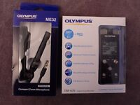 Olympus DM-670 8 GB with external microphone - Brand New!!