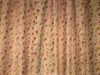 Two pairs of John Lewis Curtains Pencil Pleat drop tulip pattern