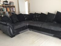 DFS Corner Group Sofa for sale - black and grey/silver in as new condition.