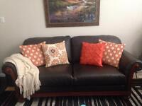 Italian Leather Couch & Loveseat!!!