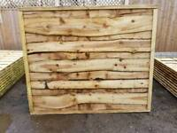 6FT X 5FT HEAVY DUTY WANEYLAP PRESSURE TREATED FENCE PANELS ONLY £27 EACH