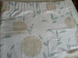 Pair of pencil pleat curtains with tie back and 2 matching cushion cases from Laura Ashley