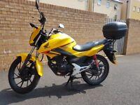 HONDA CB125F - 66, 1700 miles, Yellow - Portishead