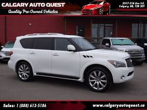 2011 Infiniti QX56 4WD/NAVI/B.CAM/H.REST DVD/3RD ROW/LEATHER