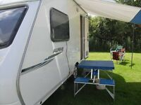 sprlte alpine two berth touring caravan with accessories