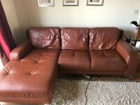 Real leather corner sofa in immaculate condition