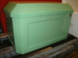 Cistern Cast Iron Old Green Enamel. Ideal for old house