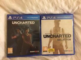 PS4 Ucharted the lost legacy + Uncharted collection!