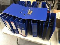 25 A4 Blue Jumbo Sized Lever Arch Ring Binders - Used