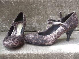 Ladies leopard print Mary-Janes for sale