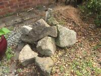 Large limestone boulders/stones