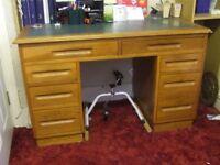Leather top desk for restoration