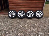 17 inch volkswagen wheel rims an tyres for sale £250