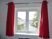 Reduced Curtains - available in Red or Navy