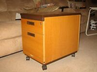 Desk pedestal unit with two drawers