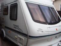 2000 4 berth Elddis Tornado xl Touring Caravan with fixed bed
