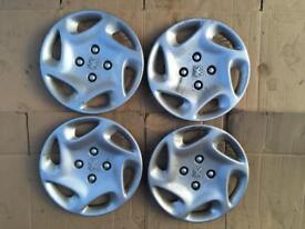 """Peugeot 206 306 partner wheel trims 14"""" SONATE 9628302077"""