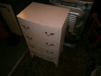 GEORGIAN STYLE BEDSIDE CHEST OF DRAWERS SHABBY CHIC UP-CYCLE