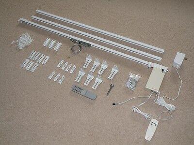 10' Remote Electric Motorized Window Treatment Drapery Curtain Rod Kit