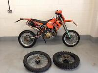 Ktm exc 450 2005 supermoto with off road wheels