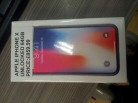 !!!!!!SUPER CHEAP DEAL APPLE IPHONE X SEALED COMES WITH WARRANTY!!!!!!