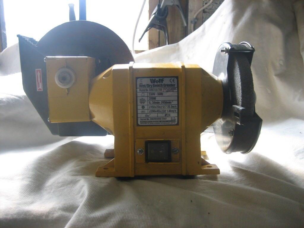 Wolf Wet Dry Bench Grinder 2 In 1 240v 370w In