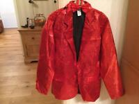 Men's Red Sequin Jacket and Bow tie