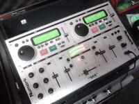 Newmark CD decks mixer cased