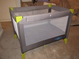 BABYSTART TRAVEL COT WITH MATTRESS