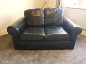 Small 2 seater Ikea faux leather sofa