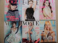 6 VOGUE magazines from 2012 immaculate